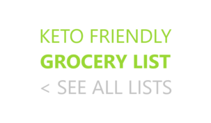 Keto Grocery List Keto Friendly Ketogenic Keto Diet